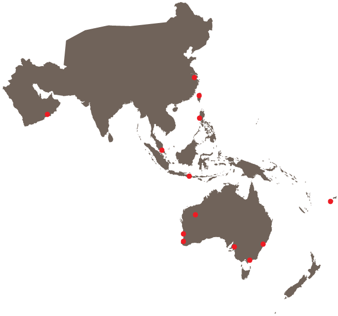 Engas distribution map